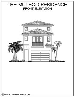Mcleod residence- Front elevation