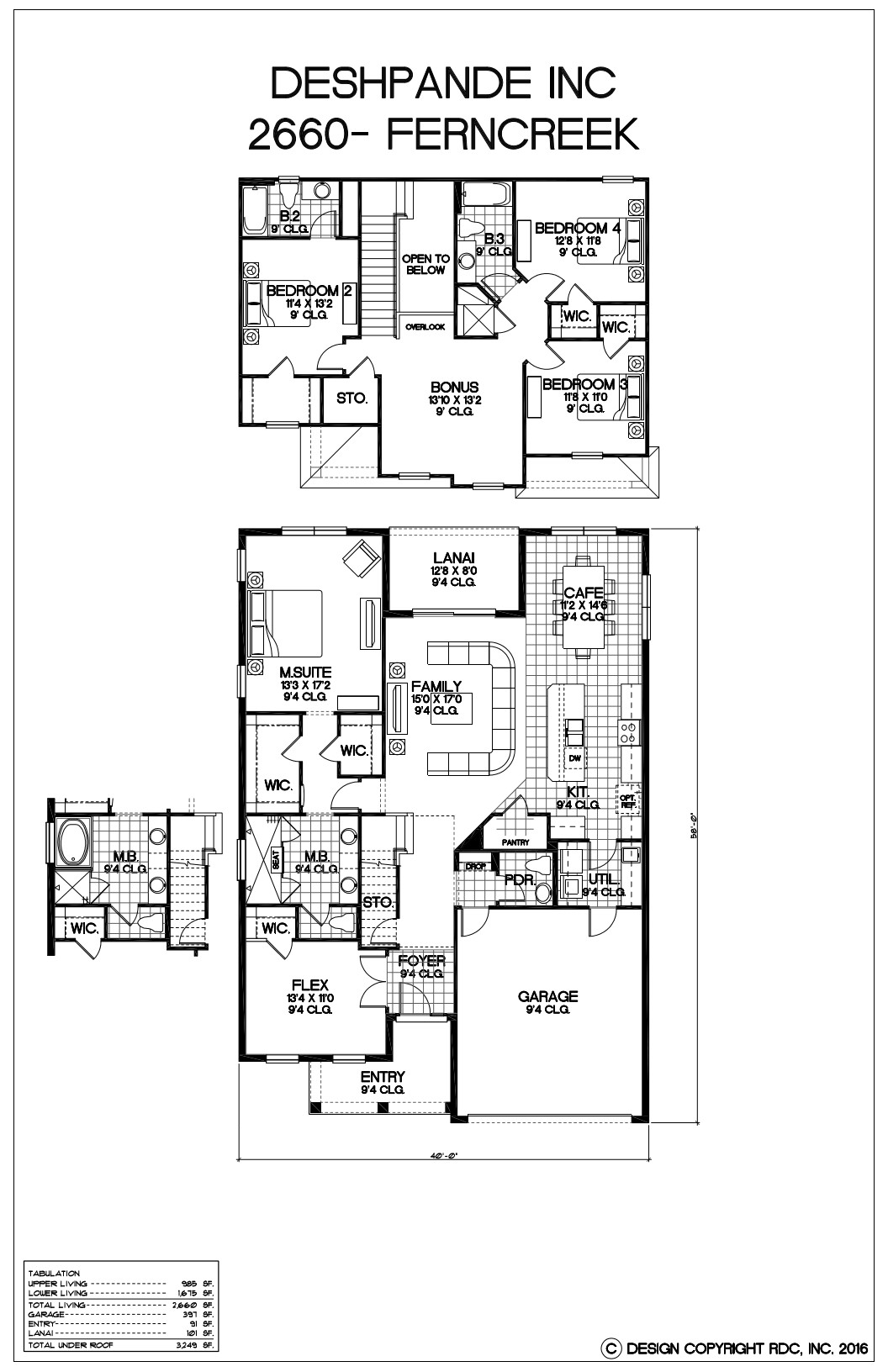 Ferncreek-2660-Floor Plan