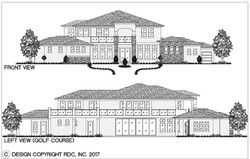 Bay Hill - Front & Left Elevations