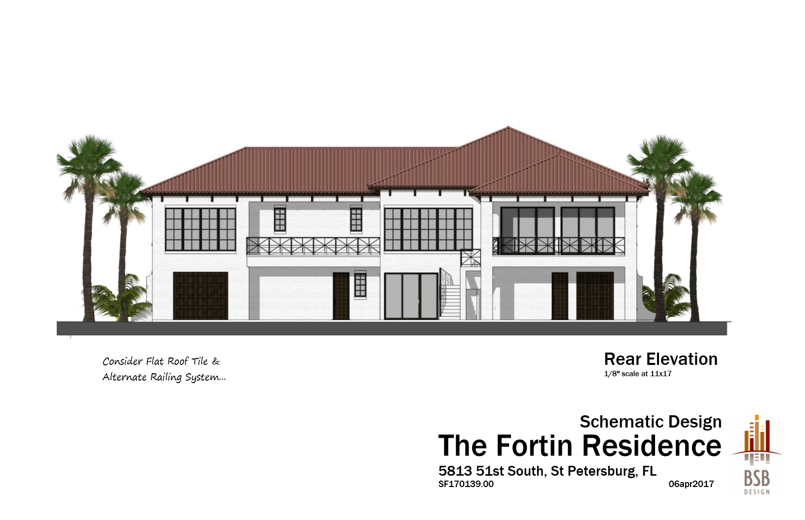 Fortin - Rear Elevation