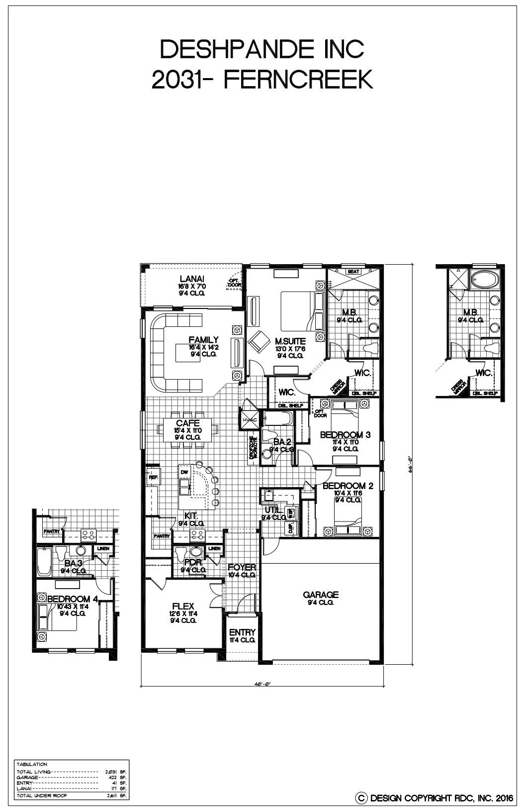 Ferncreek-2031-Floor Plan