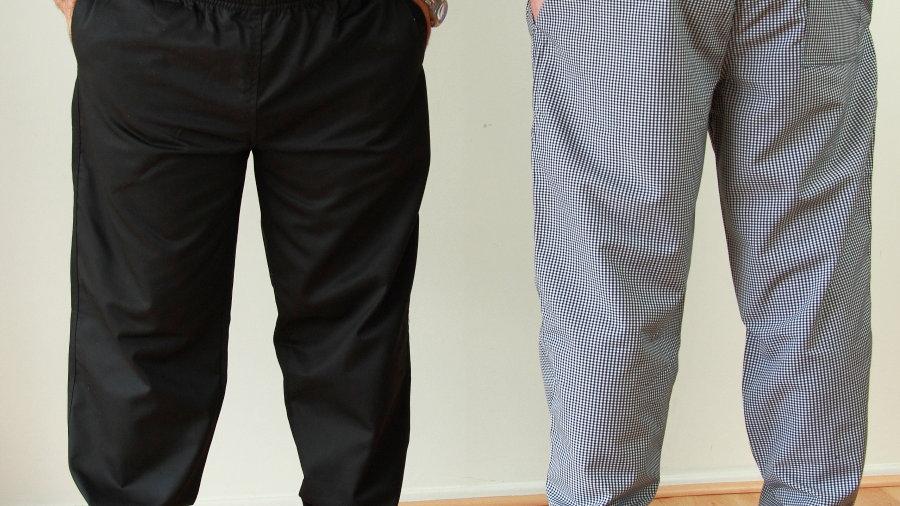 Black Chef Drawstring Pants