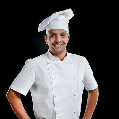 Young attractive chef wearing black and