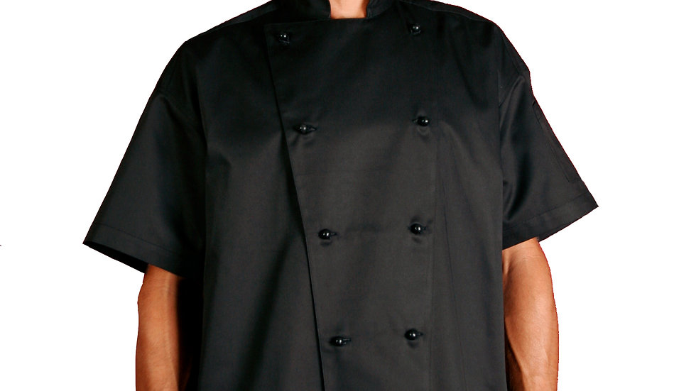 Chef Traditional Black Short Sleeve Jackets