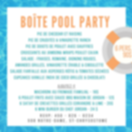 Teal Pool Photo Bordered Pool Party Invi