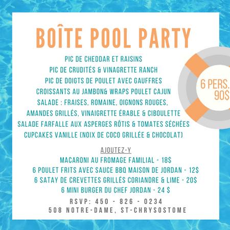 Teal Pool Photo Bordered Pool Party Invi
