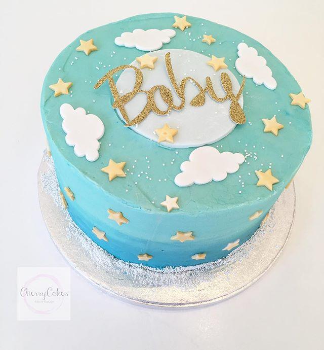 Cute Baby Shower Cake 💙