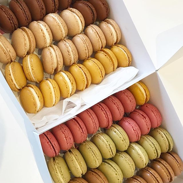 Lots of Macarons as Wedding favours for