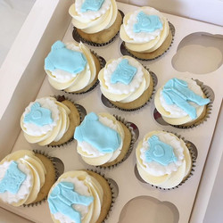 Matching Baby Shower CupCakes 💙🍼