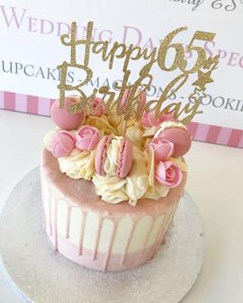 Happy 65th Birthday! 💗_•_•_•_•_•_#cakes