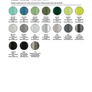 Pedrali Beltéri fém színek b
