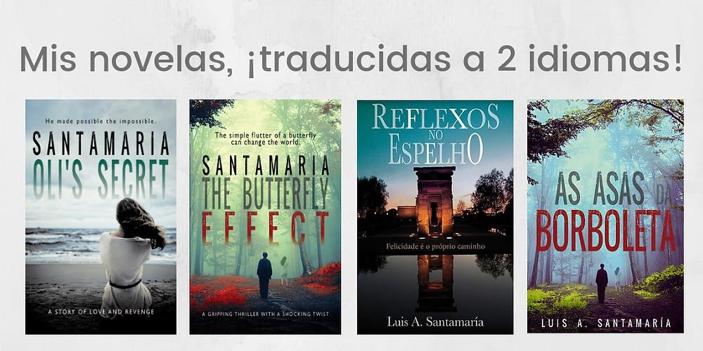 Portadas de mis novelas traducidas hasta la fecha