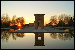 Fotografía original. Templo de Debod, Madrid (2011)