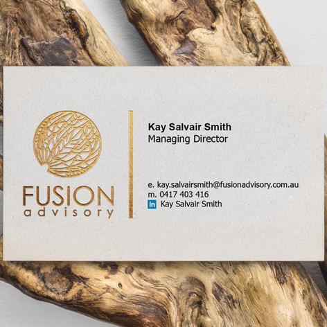 Fusion Advisory Business Card Design