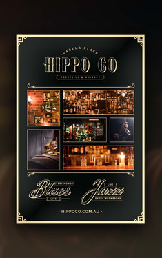 Poster Design for Canberra Bar Hippo Co