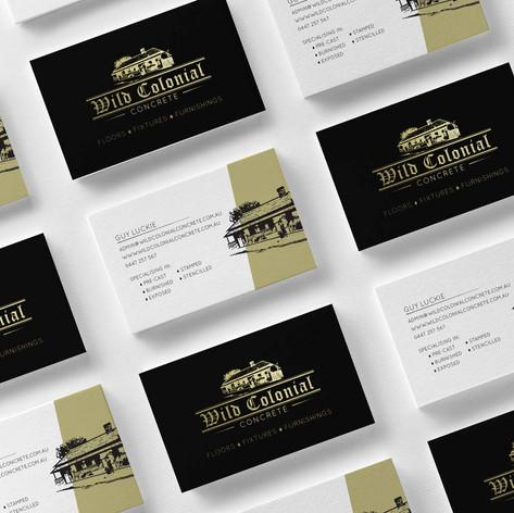 Wild Colonial Concrete Business Card Design