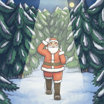 The Boy Who Became Santa Claus - Picture Book Illustration