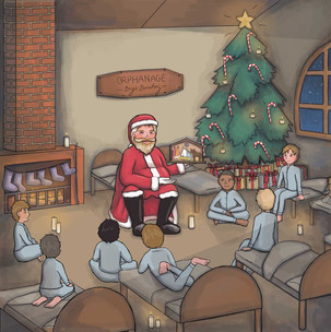 The Boy who became Santa Claus - Illustration