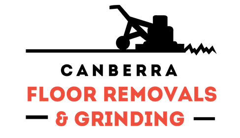 Canberra Floor Removals and Grinding logo on a sliding background.