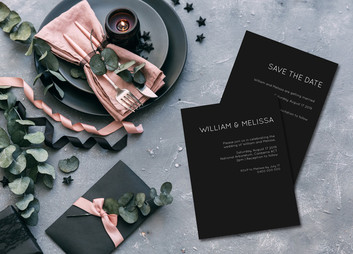 Invitations - Modern Black