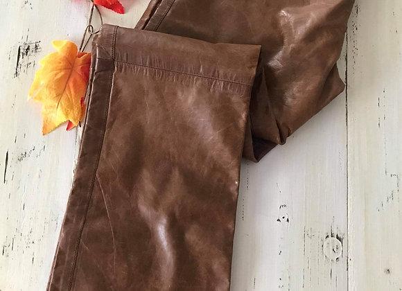 Pantalon de cuir tan Ruby
