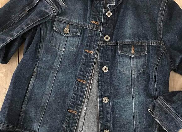 Veste de jeans contrast 7 ans