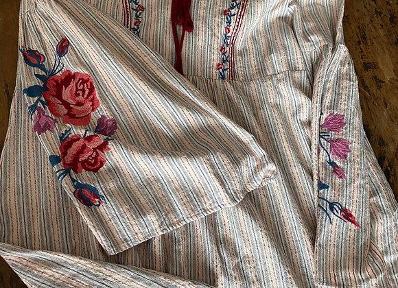 Tunique Coton Bleu large