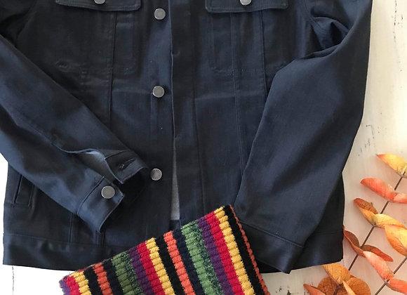 Manteau de jeans et cuir véritable médium For all 7 mankind