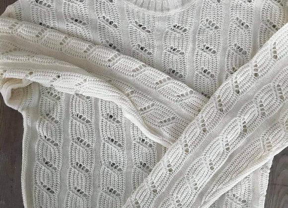 Chandail tricot crème