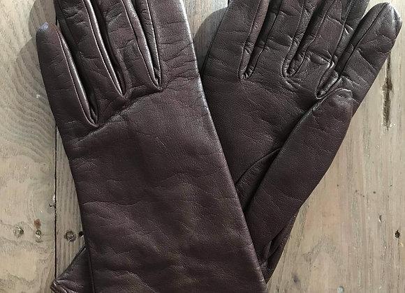 Gant laine et cuir