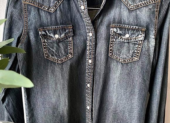 Chemise jeans denin carreli small