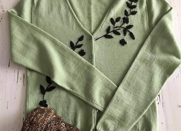 Chandail cardigan 100% laine merino