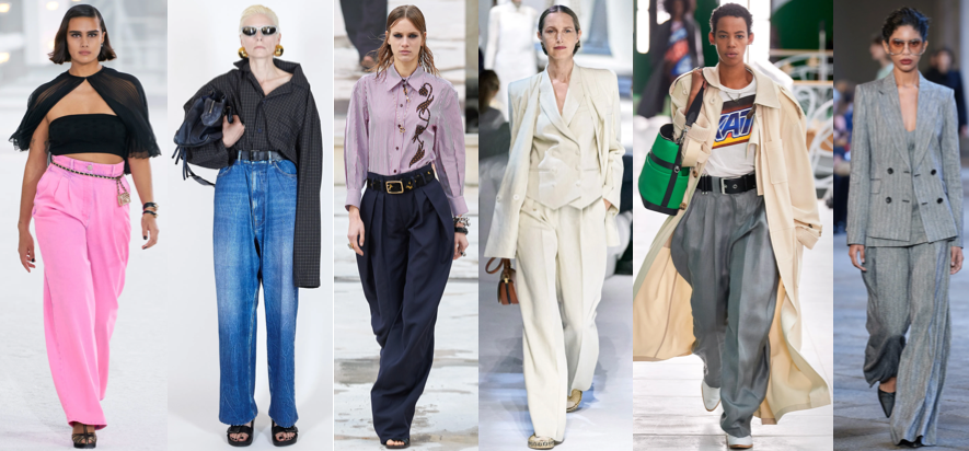 Wide leg style trends illustration for year 2021
