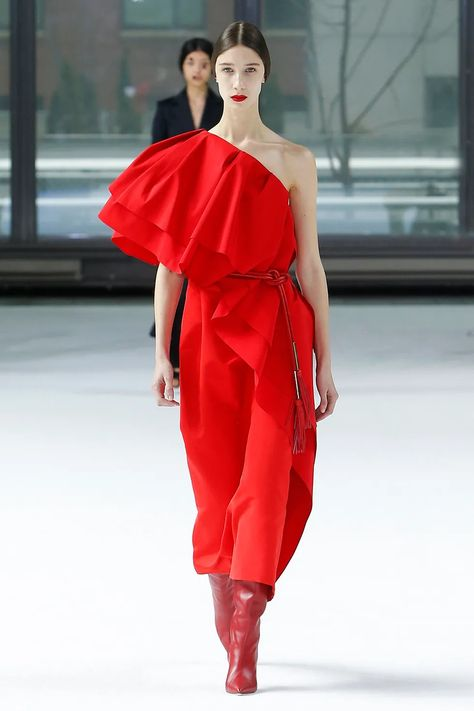Maxi red - Carolina Herrera