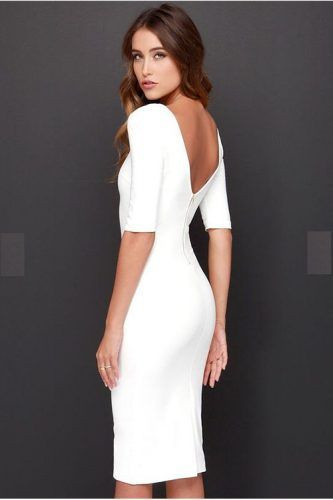 A simple low back dress can be very appealing on a special date like Valentine