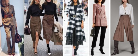 Checks with houndstooth style in a multitude of colors as well as in black and white. wear them on any occasion with casual, sportswear or formal wear.