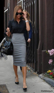 pencil skirt check pattern