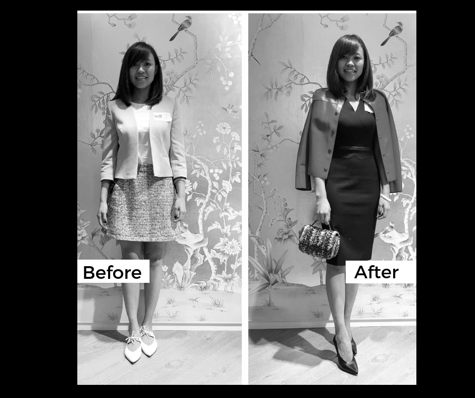 Style Makeover: finished look [before and after]