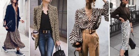 Animal motifs like leopard print, zebra are still quite the favorites among trend setters of 2019. Pair these prints with neutrals or basics such as jeans.