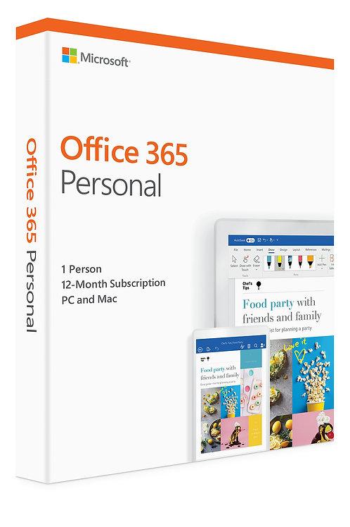 Microsoft Office 365 Anual personal(Caja)