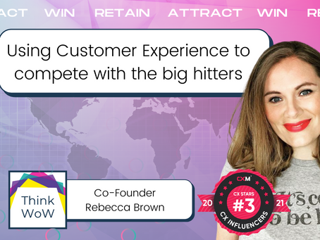 How can I use Customer Experience Strategy to compete with bigger, more established brands?