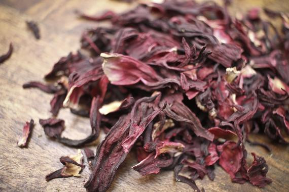 Dried organic hibiscus flower