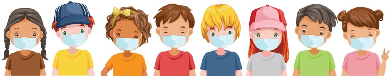 kids-mask-set-little-boy-260nw-173624345