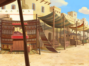 THE LEGEND OF KING SOLOMON - BACKGROUND PAINTINGS