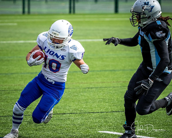 Ruth in UK club action in 2018 for Birmingham Lions. Jody Davies.