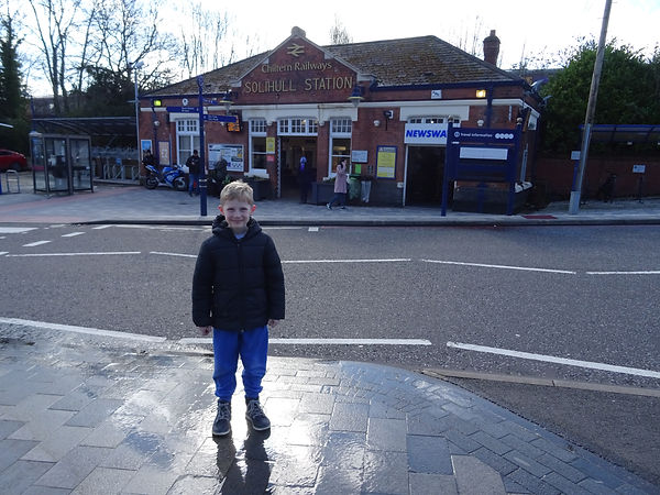 Liam arrives in Solihull town centre