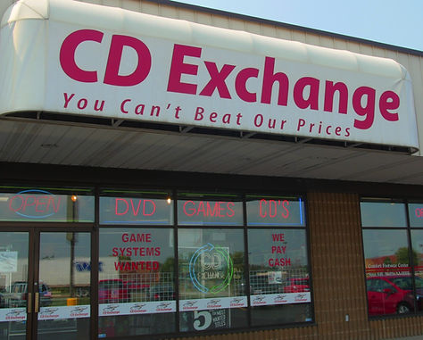 Front of CD Exchange Muskegon store.