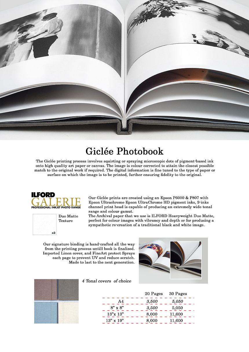Photobook, Service, Best Premium, Signature, โฟโต้บุ๊ค, เกรดพรีเมี่ยม, เกรดสูง, คุณสูง, ทนทาน, ILFORD, EPSON, FINEART, GALLERY, SIGNATURE, PREMIUM
