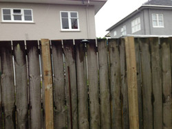 Leaning fence - Handyman Work