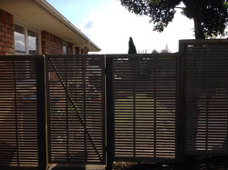 Fence and gate outside view